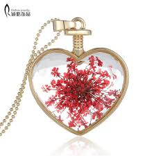 pink chain necklace images Transparent heart glass heart lockets necklaces necklaces pendant jpg