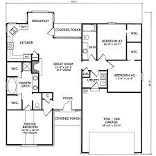 3 bedroom home floor plans 3 bedroom 2 bathroom 1 garage house plans adhome