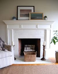 painted brick fireplace i swore i would never do it but this