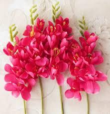 freesia flower 18pcs per lot freesia flower orchid single stem for wedding