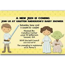 wars baby shower ideas a new jedi wars baby shower invitation the wars