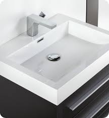 Modern Bathroom Medicine Cabinet Fresca Livello 24 Black Modern Bathroom Vanity With Medicine