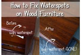 how to fix water damage on wood table how to fix water spots on wood furniture wood furniture water and