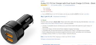 Amazon Com Gift Wrap - amazon deal aukey quick charge 3 0 charger with discount