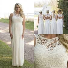 2017 plus size country style bridesmaid dresses lace top high