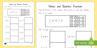 math worksheets halves and quarters 20171025141734 get