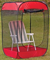 tent chair pop up insect screen chair tent debugs your world technabob