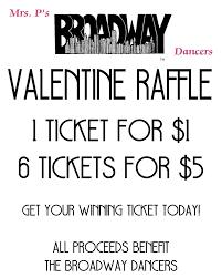valentine raffle tickets we have raffle winners mrs p u0027s dance u0026 acrobatic studios