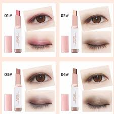 novo double color eye shadow stick gradient colors makeup pearl