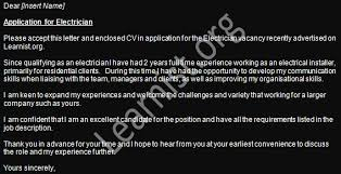 electrician job application cover letter example forums learnist org