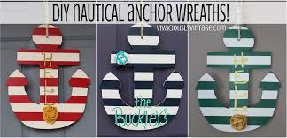 Diy Nautical Decor Ansley Designs Nautical Anchor Wreaths