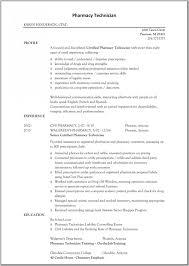 Patient Care Technician Sample Resume Pharmacy Technician Resume Example Resume Example And Free