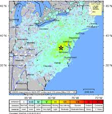 Cleveland Zip Code Map Characterization Of The 2011 Mineral Virginia Earthquake Effects