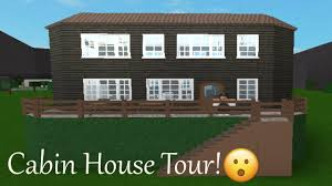Cabin House by Roblox Cabin House Tour Bloxburg Youtube