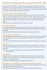 caring for patients with rheumatoid arthritis in the community