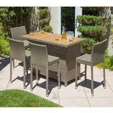 Bar And Stool Sets Corvus Ashena 5 Piece Outdoor Bar Table And Stool Set Overstock