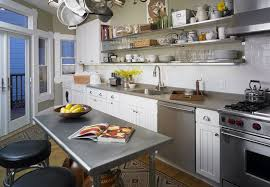 Table Kitchen Island - stainless steel kitchen prep table and inside island with seating