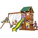 amazon com big backyard meadowvale ii wooden play set toys u0026 games
