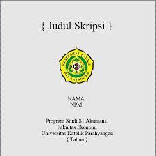 skripsi akuntansi ekonomi template cover cd skripsi program studi akuntansi