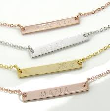 children s name necklace childrens name necklace kids bar necklace with