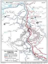 Aachen Germany Map by Hyperwar The Siegfried Line Campaign
