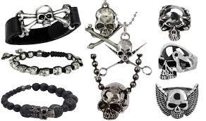 bracelet men skull images Men 39 s skull jewelry jpg