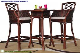 Rattan Bar Table Apartments Dark Wicker Bar Table And Two Bar Stools Design Feat