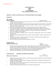 Example Of Resume For A Job by Electrical Engineer Resume Berathen Com