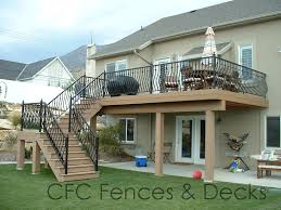 Back Porch Stairs Design A Brand New Ft Wayne Area Second Story Deck With Pergola And Lower