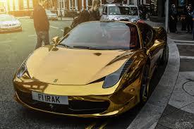 car ferrari gold chrome gold ferrari 458 spider newsnish