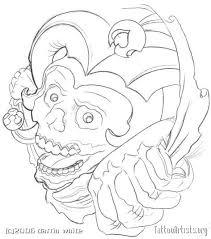 jester skull outline jester design jokers