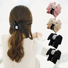 hair accessories for women 2016 brand new hair accessories fashion lovely pearl bow bowknot
