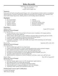 general resume template general manager resume restaurant general manager resume sle