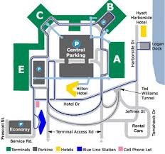 Boston Airport Terminal Map by Airport Parking Map Logan Airport Parking Map Jpg