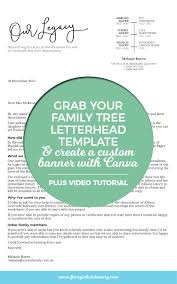 letterhead template for google docs grab your family tree letterhead template and create a custom banner