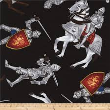 timeless treasures medieval times knights black from fabricdotcom