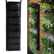 aliexpress com buy 7 pockets hanging vertical garden planter