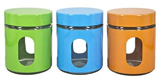 storage canisters for kitchen counter amazon com