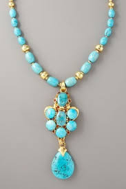 long turquoise necklace images Jose maria barrera turquoise long pendant necklace celebrities png