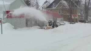ontario canada december 2016 city buried in snow