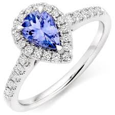 rings with tanzanite images 18ct white gold diamond tanzanite halo ring 0102041