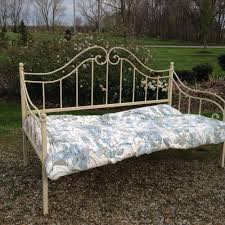 ethan allen wrought iron twin bed with trundle antique style