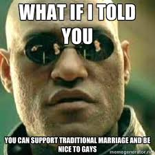 Traditional Marriage Meme - image 366020 chick fil a gay marriage controversy know your