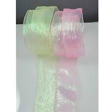 iridescent ribbon wire edged ribbons ribboncraft ebay