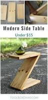 Z Shaped Side Table Diy Modern