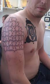 unique puzzle designs for on sleeve puzzle tattoos