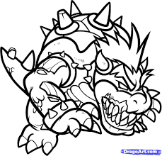 beautiful super mario bowser coloring pages images best