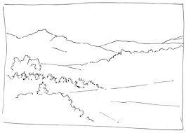 comment dessiner un paysage exemple de croquis pas a pas