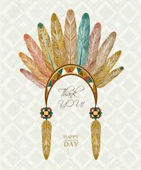 Indian Thanksgiving Thanksgiving Day Indian Feathers Royalty Free Cliparts Vectors