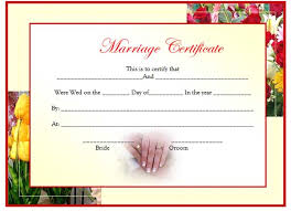 marriage certificate template updated microsoft word